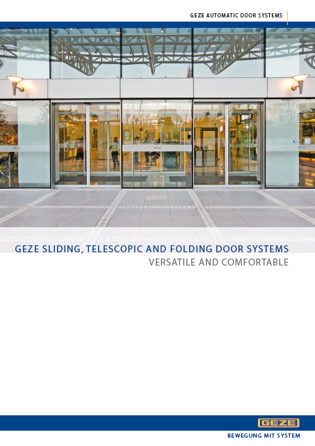Click to view Brochure - GEZE Sliding Door Operators