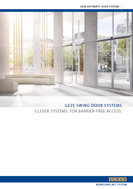 Click to view brochure - GEZE Swing Door Operators