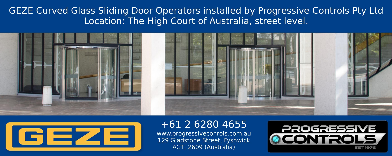 GEZE Curved Glass Sliding Door Operators installed at The High Court of Australia u2013 Canberra u2013 street-level_AUSTRALIA_LR  sc 1 st  Progressive Controls & GEZE Curved Glass Sliding Door Operators installed at The High Court ...