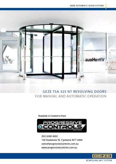 GEZE Revolving Door Systems